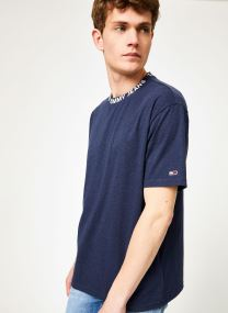 TJM HEATHER BRANDED COLLAR TEE