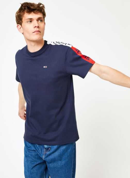 Kleding Tommy Jeans TJM SLEEVE GRAPHIC TEE Blauw detail