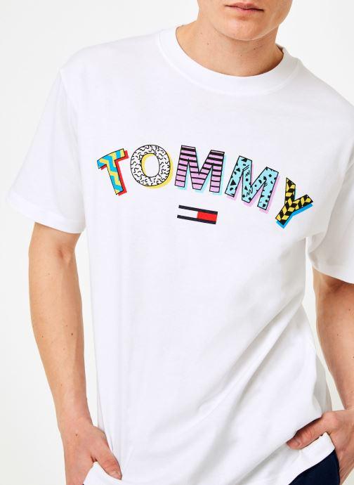 Vêtements Tommy Jeans TJM RETRO GEO TEE Blanc vue face
