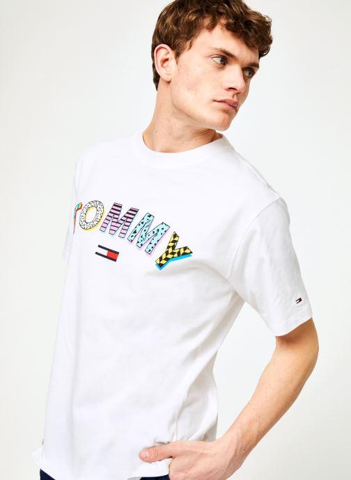 Vêtements Tommy Jeans TJM RETRO GEO TEE Blanc vue détail/paire