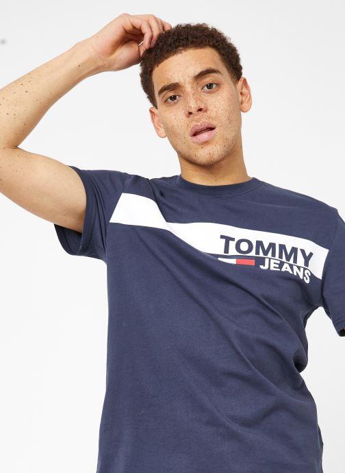Vêtements Tommy Jeans TJM ESSENTIAL BOX LOGO TEE Bleu vue détail/paire