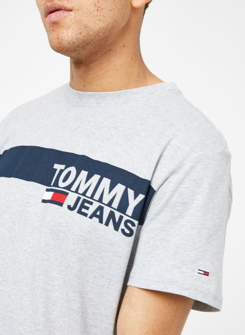 Vêtements Tommy Jeans TJM ESSENTIAL BOX LOGO TEE Gris vue face