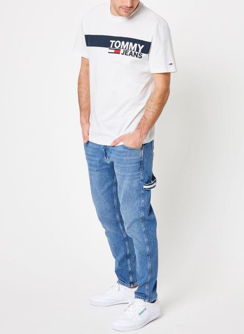 Vêtements Tommy Jeans TJM ESSENTIAL BOX LOGO TEE Blanc vue bas / vue portée sac