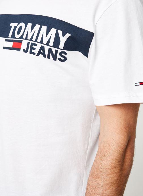 Vêtements Tommy Jeans TJM ESSENTIAL BOX LOGO TEE Blanc vue face