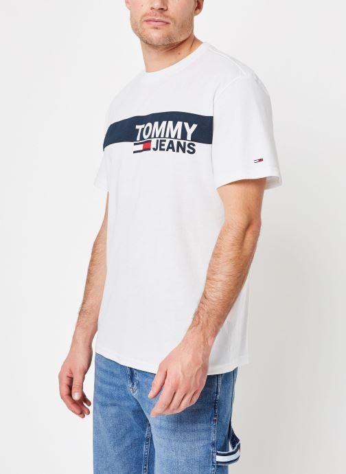 Vêtements Tommy Jeans TJM ESSENTIAL BOX LOGO TEE Blanc vue droite