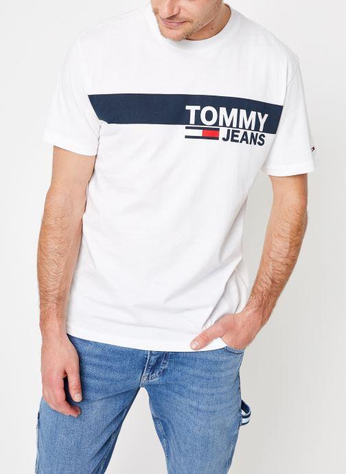 Vêtements Tommy Jeans TJM ESSENTIAL BOX LOGO TEE Blanc vue détail/paire