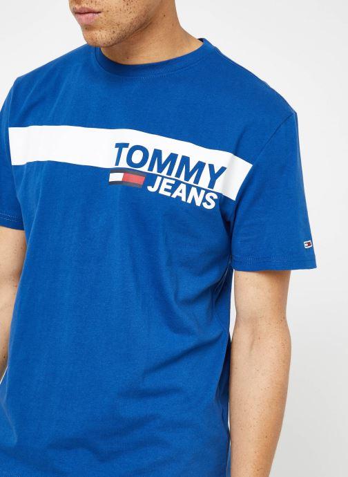 Vêtements Tommy Jeans TJM ESSENTIAL BOX LOGO TEE Bleu vue face