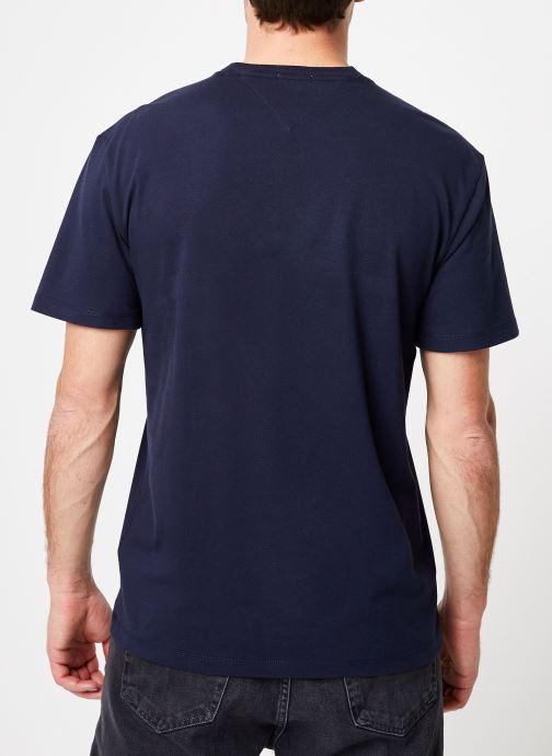 Et Tee VêtementsT Script Iris shirts Neon Polos Tjm Tommy Jeans Black 8nOk0wP