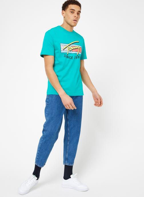 Vêtements Tommy Jeans TJM NEON SCRIPT TEE Vert vue bas / vue portée sac