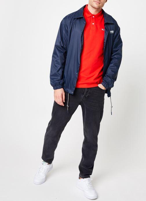 Tøj Tommy Jeans TJM SOLID COACH JACKET Blå se forneden