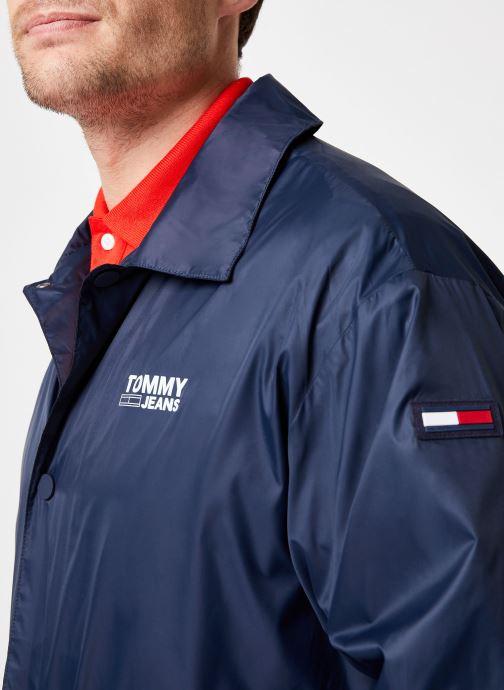 Tøj Tommy Jeans TJM SOLID COACH JACKET Blå se forfra