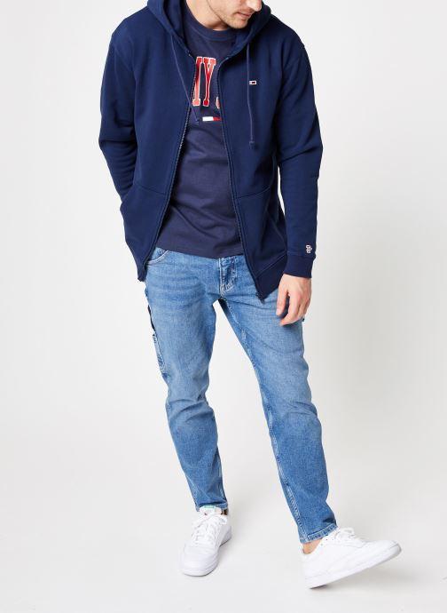 Vêtements Tommy Jeans TJM TOMMY CLASSICS ZIPTHRU Bleu vue bas / vue portée sac