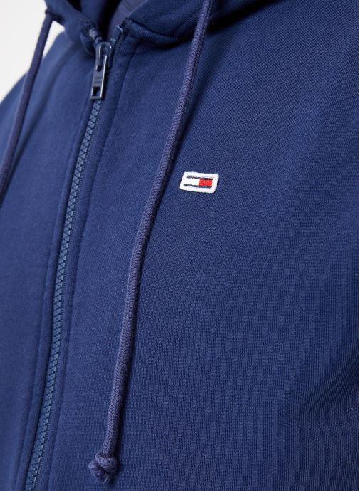 Vêtements Tommy Jeans TJM TOMMY CLASSICS ZIPTHRU Bleu vue face