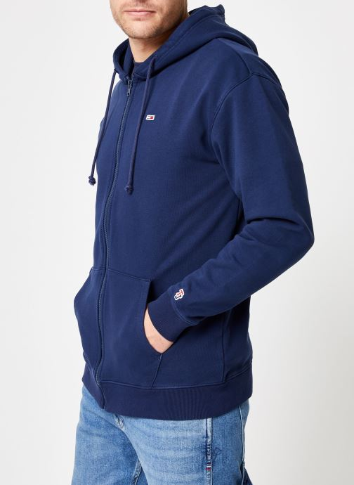 Vêtements Tommy Jeans TJM TOMMY CLASSICS ZIPTHRU Bleu vue droite