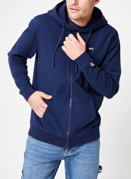 Vêtements Tommy Jeans TJM TOMMY CLASSICS ZIPTHRU Bleu vue détail/paire