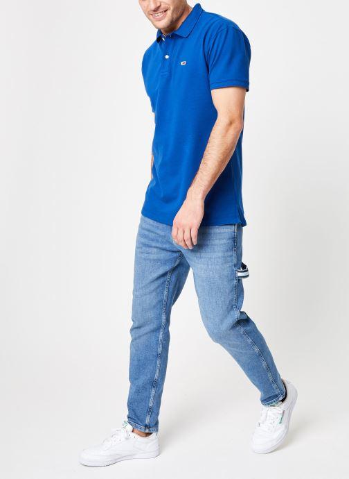 Vêtements Tommy Jeans TJM TOMMY CLASSICS SOLID POLO Bleu vue bas / vue portée sac