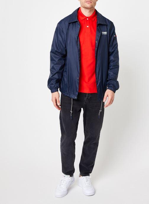 Vêtements Tommy Jeans TJM TOMMY CLASSICS SOLID POLO Rouge vue bas / vue portée sac
