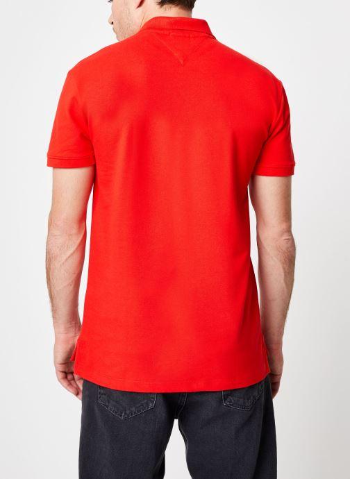 Vêtements Tommy Jeans TJM TOMMY CLASSICS SOLID POLO Rouge vue portées chaussures