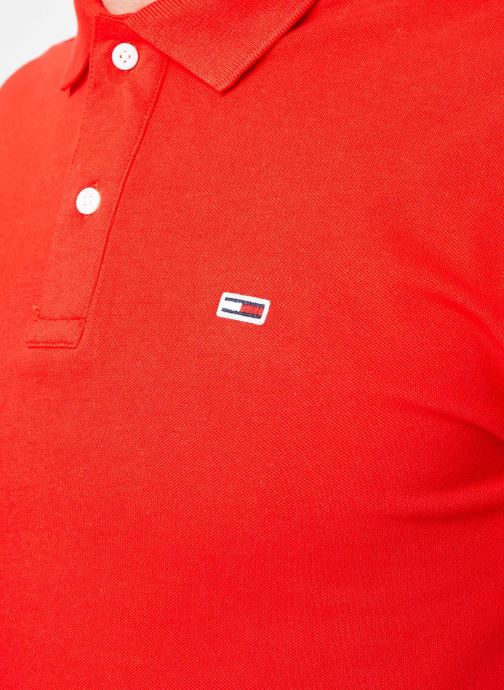 Kleding Tommy Jeans TJM TOMMY CLASSICS SOLID POLO Rood voorkant