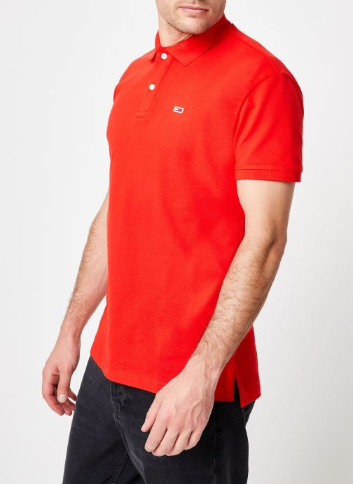 Kleding Tommy Jeans TJM TOMMY CLASSICS SOLID POLO Rood rechts