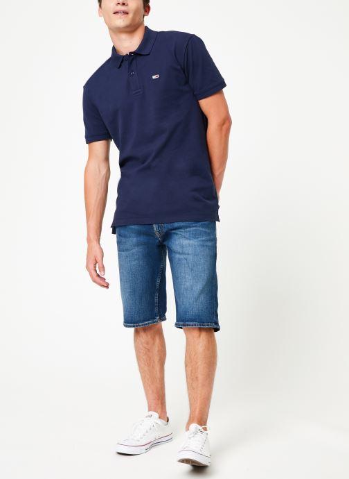 Vêtements Tommy Jeans TJM TOMMY CLASSICS SOLID POLO Noir vue bas / vue portée sac