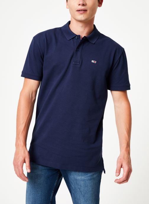 Vêtements Tommy Jeans TJM TOMMY CLASSICS SOLID POLO Noir vue droite
