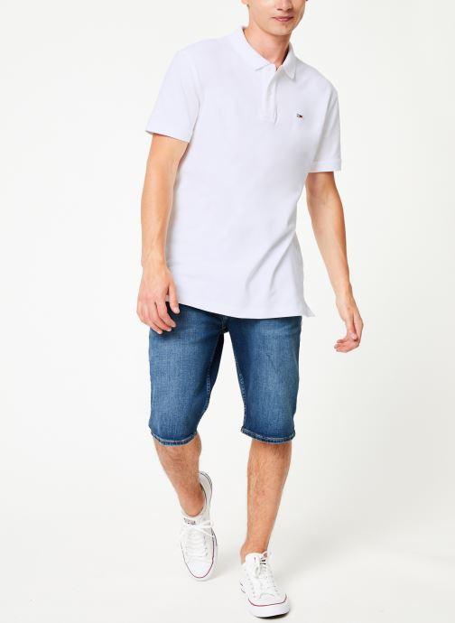Vêtements Tommy Jeans TJM TOMMY CLASSICS SOLID POLO Blanc vue bas / vue portée sac