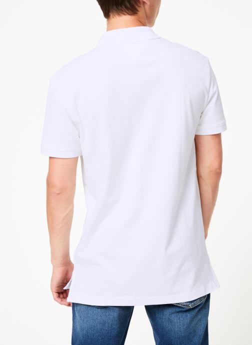 Vêtements Tommy Jeans TJM TOMMY CLASSICS SOLID POLO Blanc vue portées chaussures