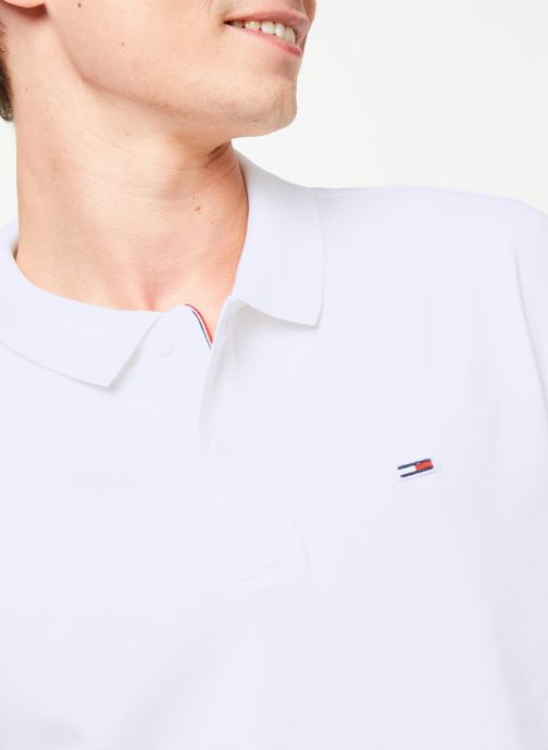 Kleding Tommy Jeans TJM TOMMY CLASSICS SOLID POLO Wit voorkant