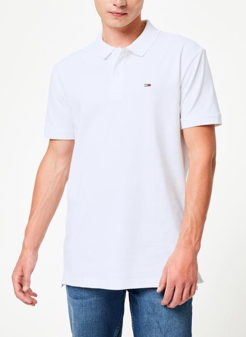 Vêtements Tommy Jeans TJM TOMMY CLASSICS SOLID POLO Blanc vue droite