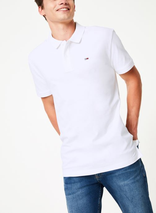 Kleding Tommy Jeans TJM TOMMY CLASSICS SOLID POLO Wit detail