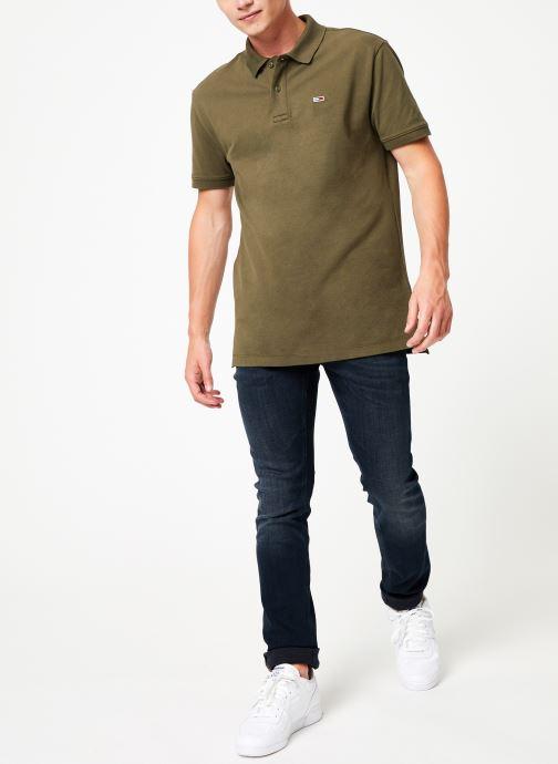 Vêtements Tommy Jeans TJM TOMMY CLASSICS SOLID POLO Vert vue bas / vue portée sac