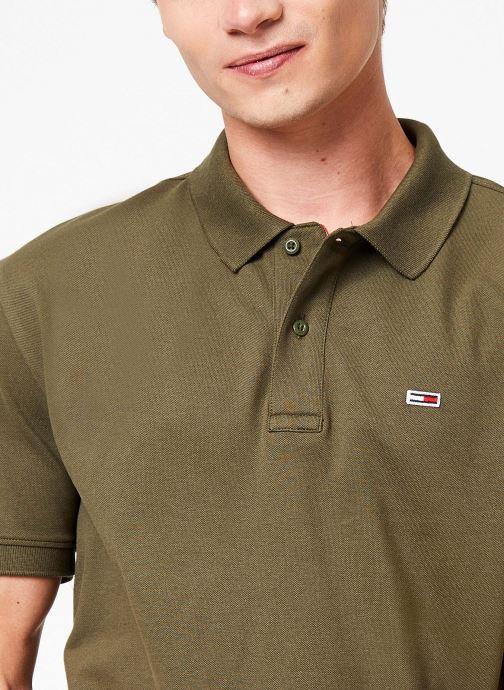 Vêtements Tommy Jeans TJM TOMMY CLASSICS SOLID POLO Vert vue face