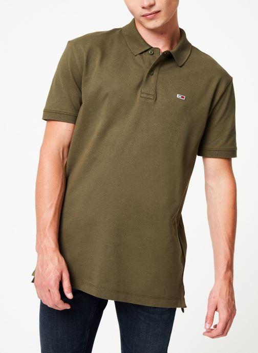 Vêtements Tommy Jeans TJM TOMMY CLASSICS SOLID POLO Vert vue droite