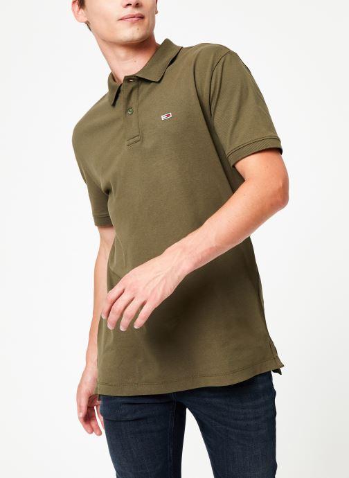 Vêtements Tommy Jeans TJM TOMMY CLASSICS SOLID POLO Vert vue détail/paire