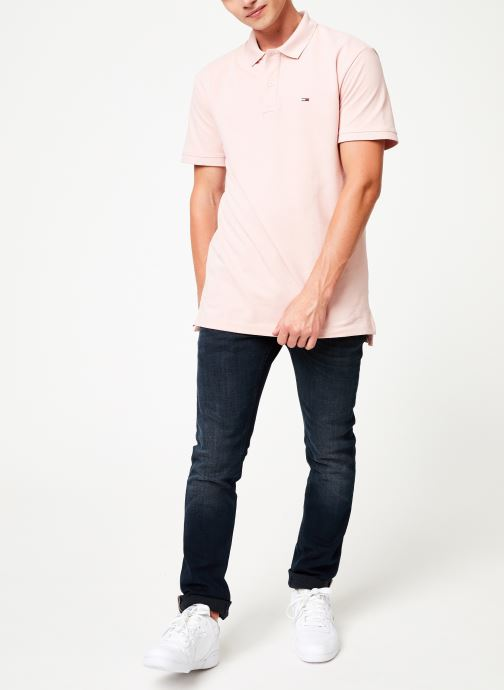 Kleding Tommy Jeans TJM TOMMY CLASSICS SOLID POLO Roze onder