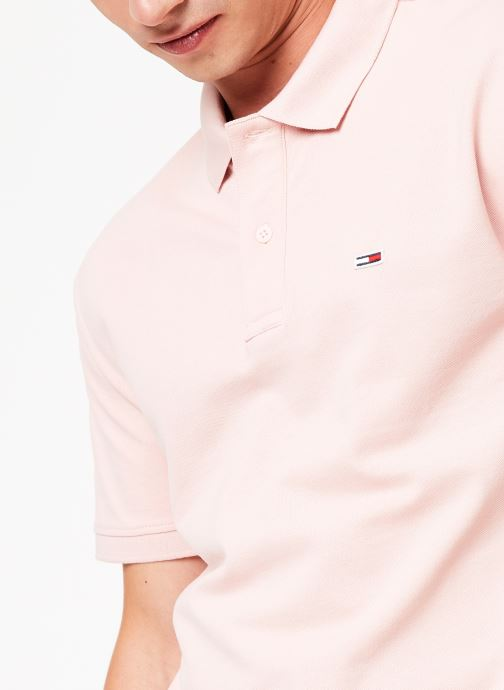 Kleding Tommy Jeans TJM TOMMY CLASSICS SOLID POLO Roze voorkant