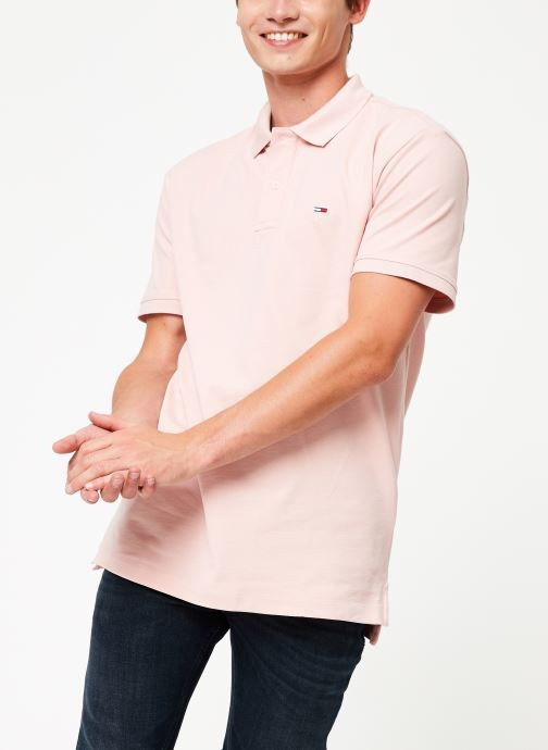 Kleding Tommy Jeans TJM TOMMY CLASSICS SOLID POLO Roze detail