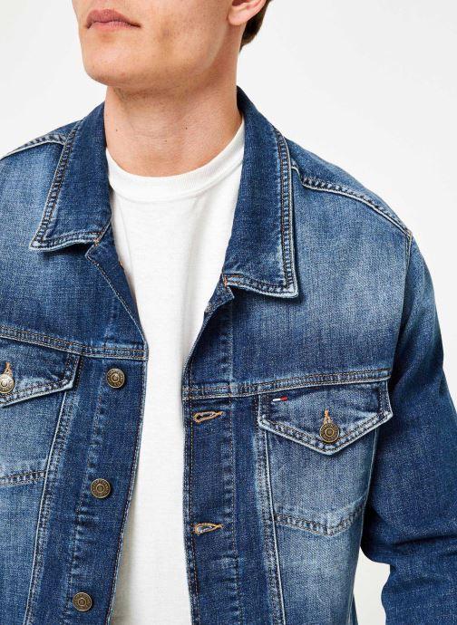 Vêtements Tommy Jeans REGULAR TRUCKER JACKET ELKDK Bleu vue face