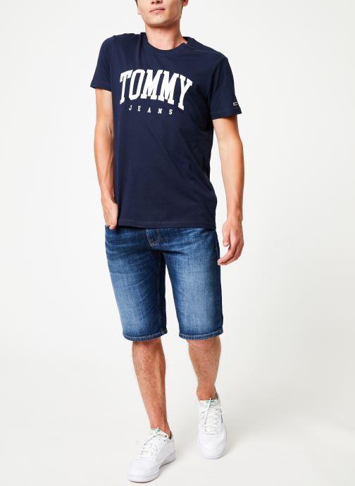 Vêtements Tommy Jeans RONNIE SHORT ELKDK Bleu vue bas / vue portée sac