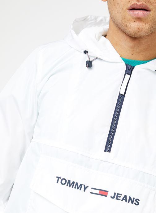 Ropa Tommy Jeans TJM NYLON SHELL SOLID POPOVER Blanco vista de frente