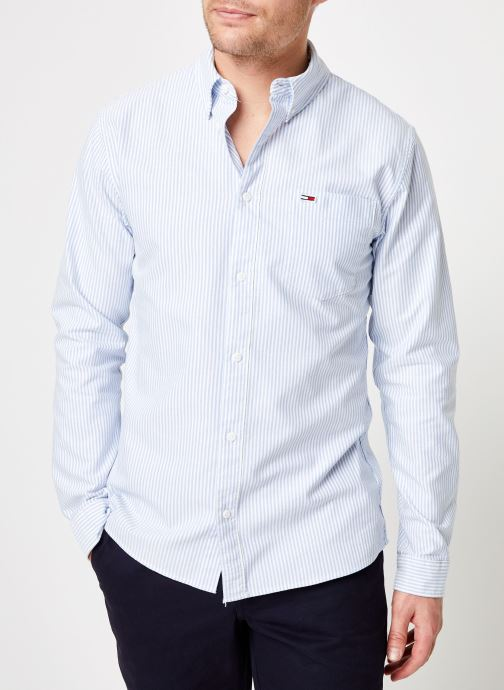 Vêtements Tommy Jeans TJM CLASSICS OXFORD ITHACA SHIRT Bleu vue détail/paire