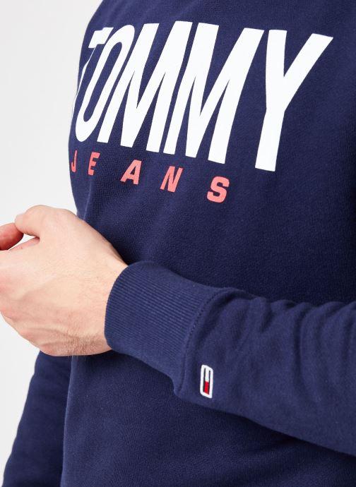 Vêtements Tommy Jeans TJM ESSENTIAL LOGO CREW Bleu vue face