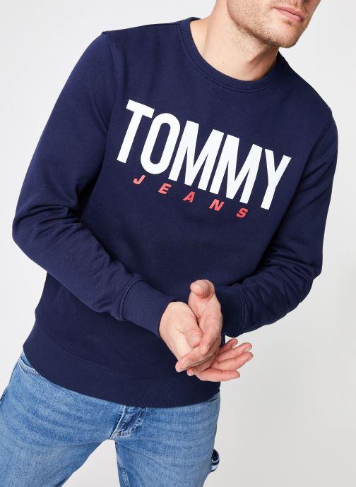 Vêtements Tommy Jeans TJM ESSENTIAL LOGO CREW Bleu vue détail/paire