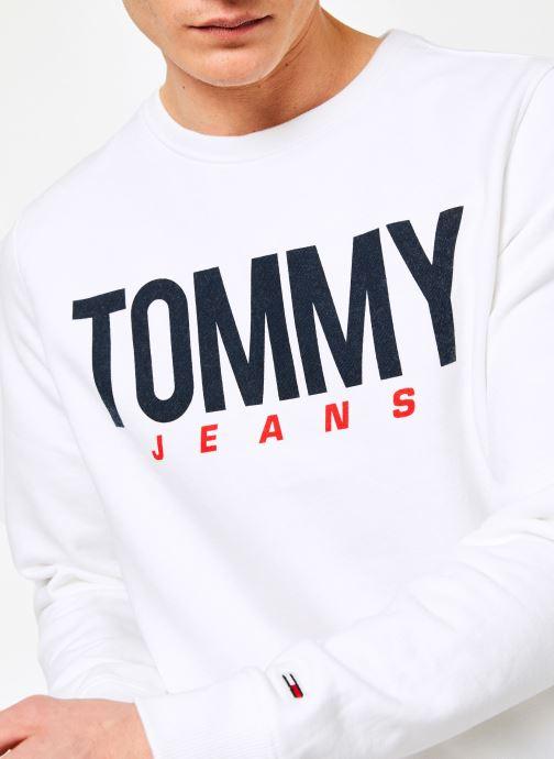 Vêtements Tommy Jeans TJM ESSENTIAL LOGO CREW Blanc vue face