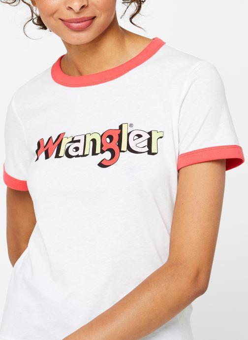 Vêtements Wrangler RINGER TEE Blanc vue face