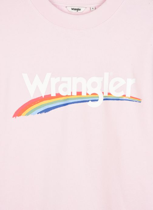 Vêtements Wrangler RETRO SWEAT Rose vue face