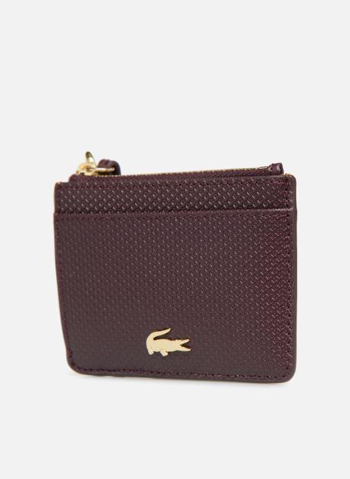 Wallets & cases Lacoste Porte cartes Chantaco Burgundy model view