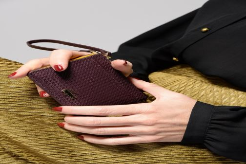 Wallets & cases Lacoste Porte cartes Chantaco Burgundy view from above
