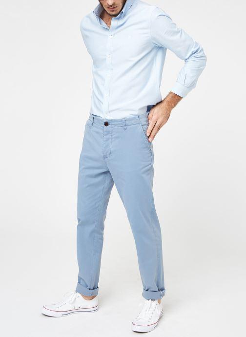 Kläder Cuisse de Grenouille PANTS - CHINO WASHED Blå bild från under
